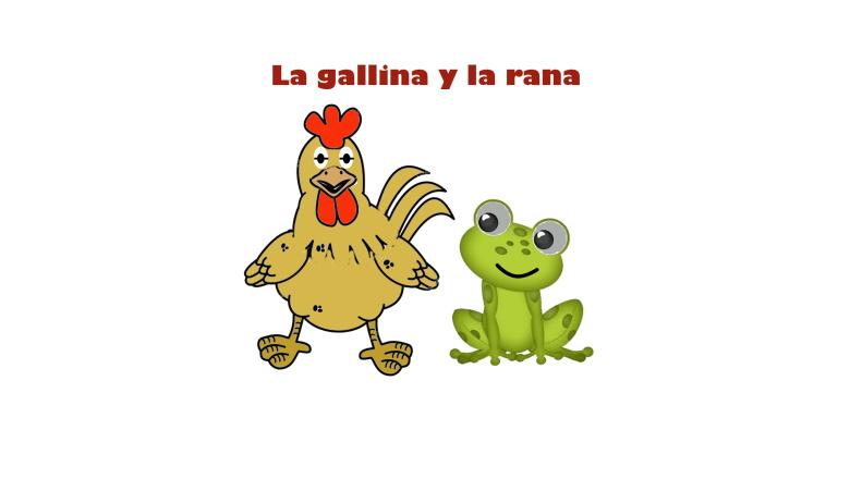 La rana y la gallina