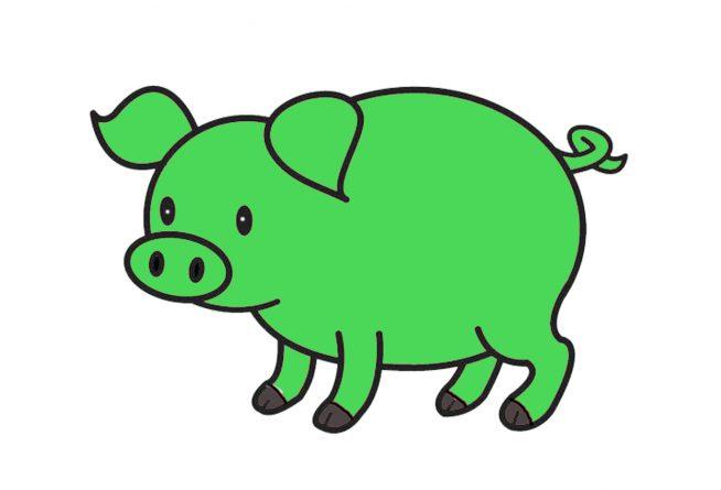 El cerdito verde