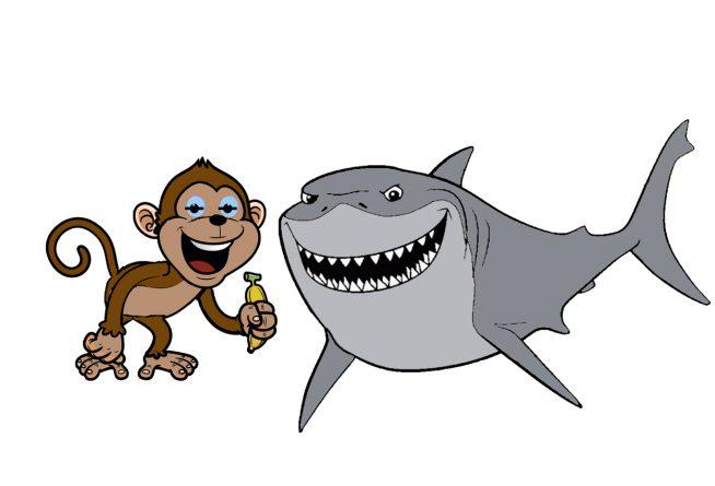 El mono y el tiburón