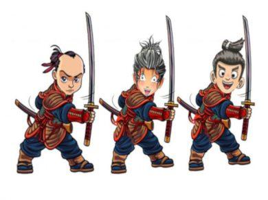 Los tres hermanos samuráis