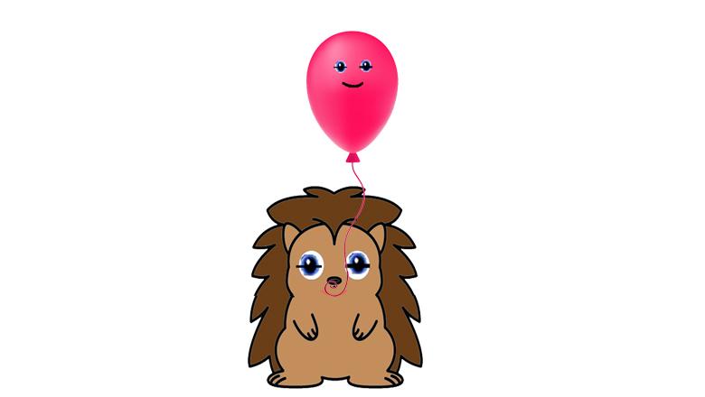 La fábula del erizo y el globo, por Belencribs