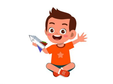 El niño y su cohete