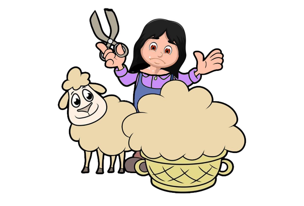 La viuda y la oveja. Un cuento con moraleja