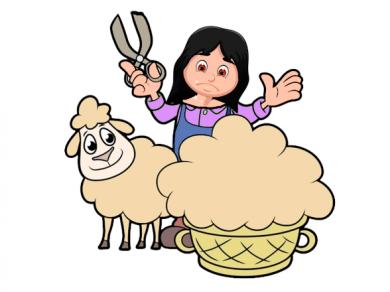 La viuda y la oveja, por Belencribs