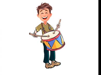 El tamborilero mágico, por Belencribs
