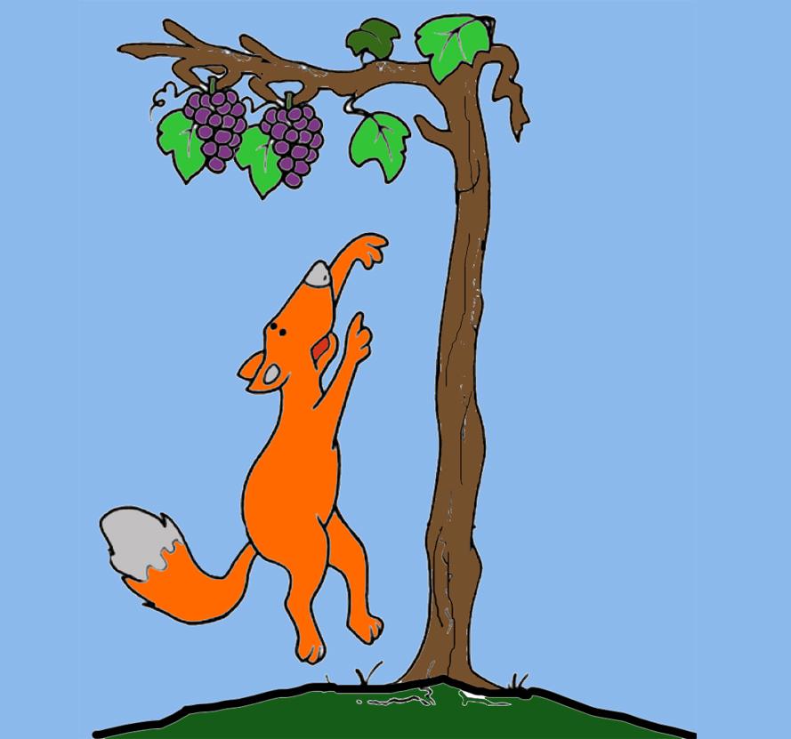 🦊 La zorra y las uvas. Una fábula de Esopo 🍇